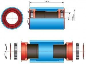 Boîtier de pédalier BB386 EVO éclaté