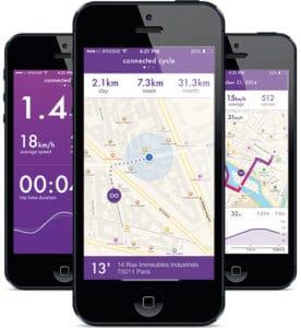 L'application Connected Cycle permettra d'être alerté lors du déplacement de son vélo.