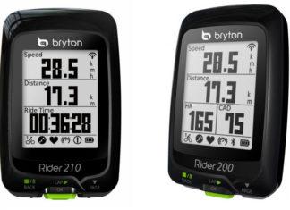 Bryton Rider 210 et Rider 200