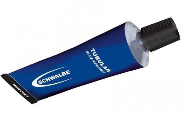 Le nettoyant colle à boyaux Schwalbe Tubular Glue Remover est ultra efficace.