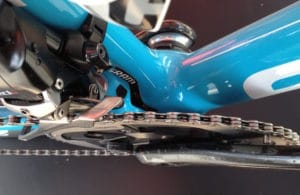 Une chaine d'un vélo de pro est toujours impeccable.