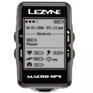 On retrouve les indications nécessaires sur le Lezyne Macro GPS.