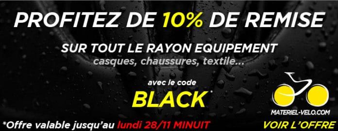 Les offres immanquables Black Friday Materiel-velo.com.