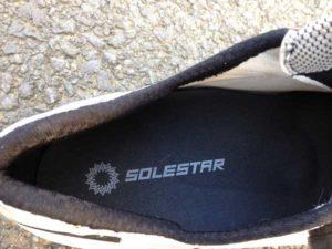 La semelle Solestar Kontrol BLK assure un maintien de la voute plantaire parfait.