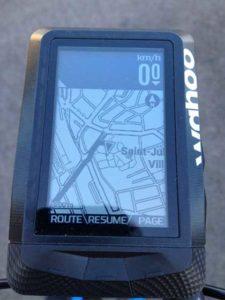 En temps réel vous connaissez votre position sur l'écran GPS.