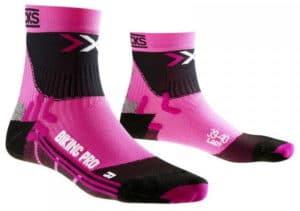 Bon poit pour le design des socquettes vélo femme X-Bionic Biking Pro !