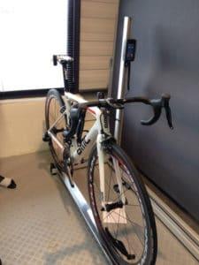 La phase terminale statique est de transposer les cotes sur notre vélo.