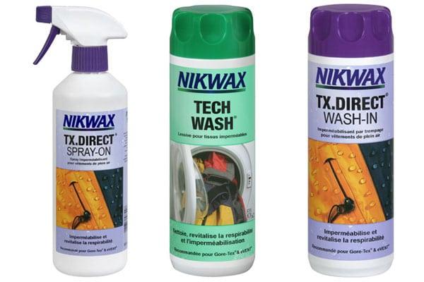 Nikwax propose des solutions efficaces pour conserver la technicité de vos vêtements de sport.