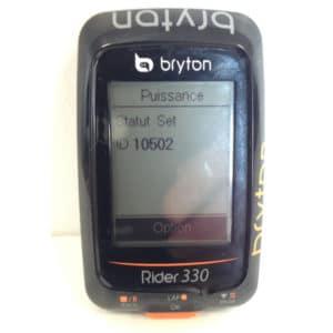 Une fois l'appairage réalisé le GPS Bryton Rider 330 mémorise l'ID du capteur.