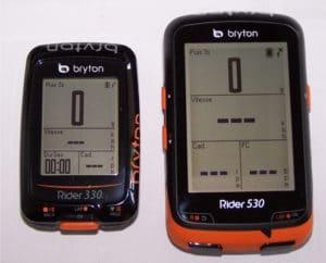 Voici donc la différence de taille entre un Bryton 330 et 530.