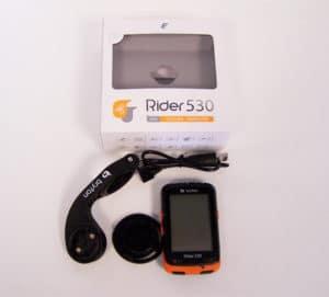 Voici le contenu du pack du GPS Bryton Rider 530.