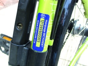 Le marquage vélo Fubicy est un excellent moyen de dissuasion !