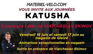 Découvrir la gamme textile Katusha Sport et rouler avec Viatcheslav Ekimov sur les routes du Beaujolais.