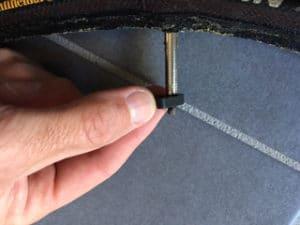 Démontage de l'obus du prolongateur de valve.
