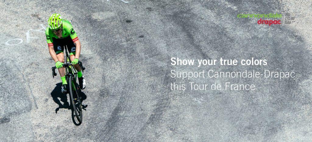 Le casque vélo route Poc Octal est l'équipement de protection utilisé par le Team Cannondale-Drapac.