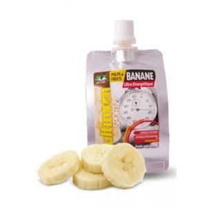 La purée de fruit Ultimum Sport à la banane est savoureuse et riche en calories.