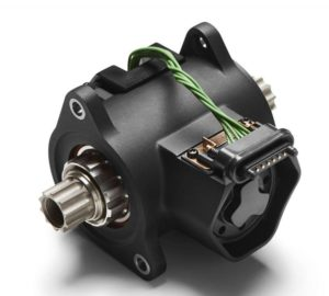 Voilà à quoi ressemble le boitier de pédalier nu. Il est implanté dans le prolongement du moteur pour transmettre la puissance.