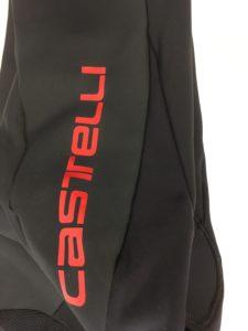 On distingue les deux tissus du cuissard long Castelli Polare 2. La protection contre le froid est parfaite.