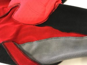 De l'intérieur on distingue parfaitement les tissus utilisés sur le cuissard vélo long Castelli Polare 2.