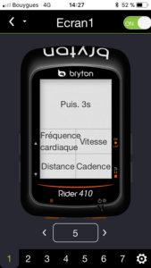 Planification des pages avec l'application Bryton. C'est rapide et simple.