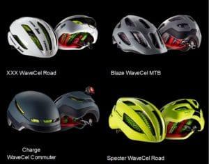 Il y a déjà 4 casque qui utilisent la technologie maison WaveCel.©Bontrager