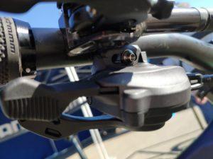 Le nouveau levier Shimano XT M8100 est ergonomique.