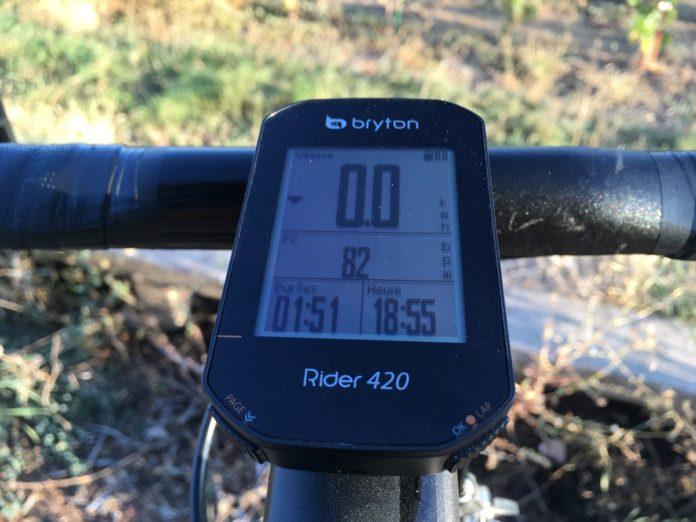 Le compteur Bryton 420 est technique avec une autonomie conséquente.