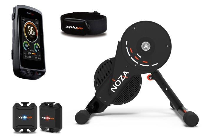 Xplova, un compteur vélo GPS et un home trainer interactif. ©Xplova