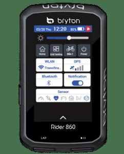 Le Bryton 860 est aussi bien sportif qu'interactif.©Bryton