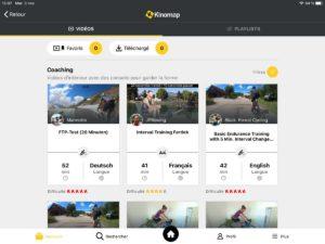 L'application Kinomap permet de choisir son parcours.