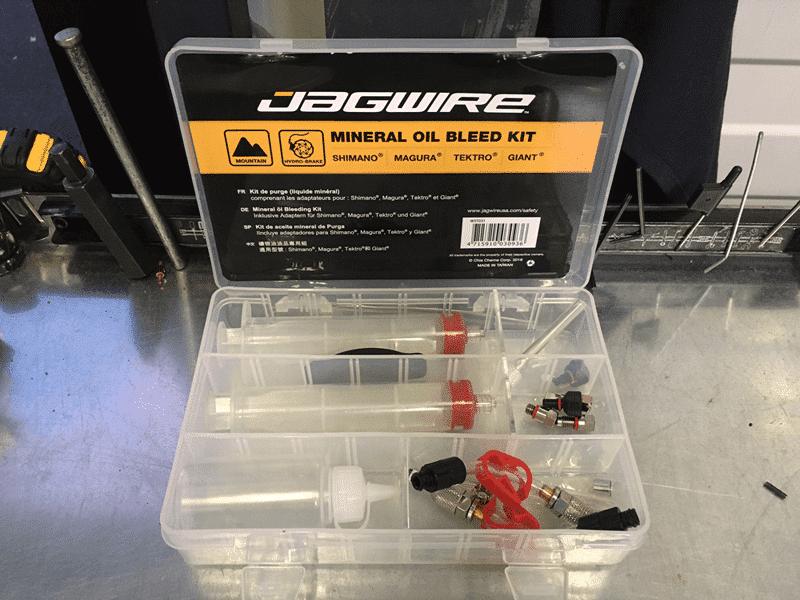 Le coffret Jagwire Pro est complet.