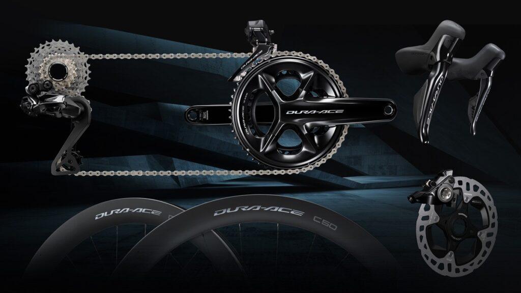 Le nouveau groupe Shimano 12 vitesses se décline en freinage disques et patins.©Shimano