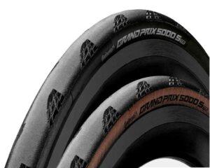Deux coloris sur ce pneu Continental GP 5000 S TR.©Continental